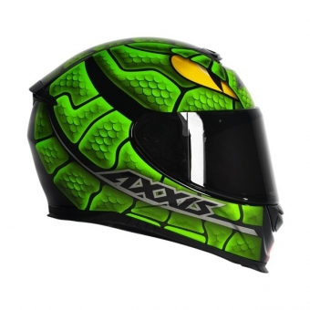 ... Capacete Axxis Eagle Snake - Gloss Preto   Verde 78285657a33
